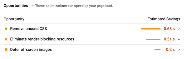 Informe de PageSpeed Insights
