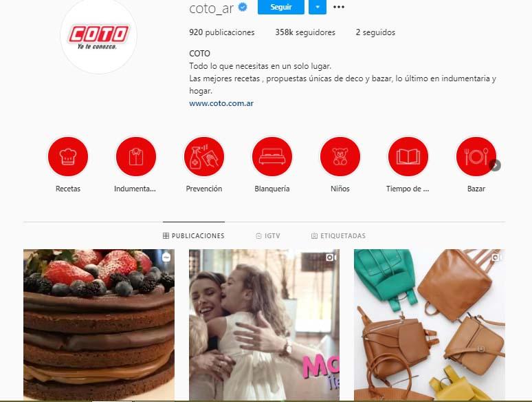 Ejemplo de branded content de COTO