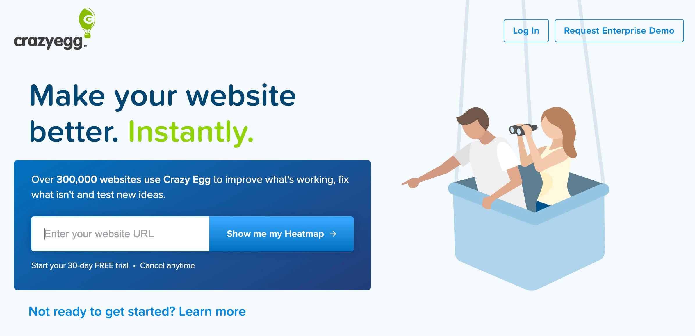 Crazy Egg, rastrea sitios y el rendimiento de cada elemento en las páginas contenidas