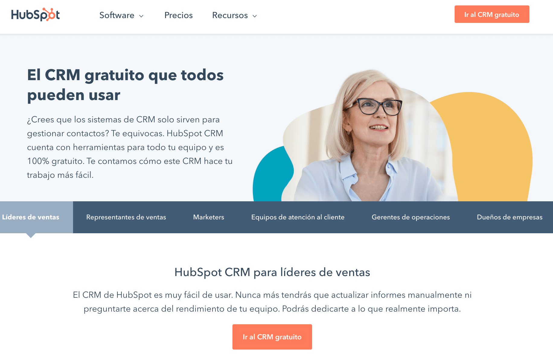 HubSpot, CRM gratis para PYMES