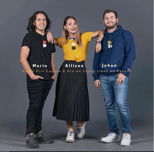 Ejemplo de la agencia creativa DDB Colombia: ganadores de premio