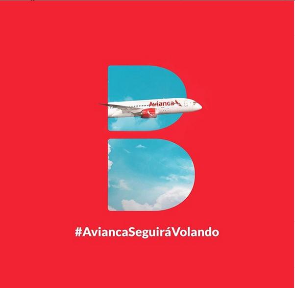 Ejemplo de DDB Colombia: #AviancaSeguiráVolando
