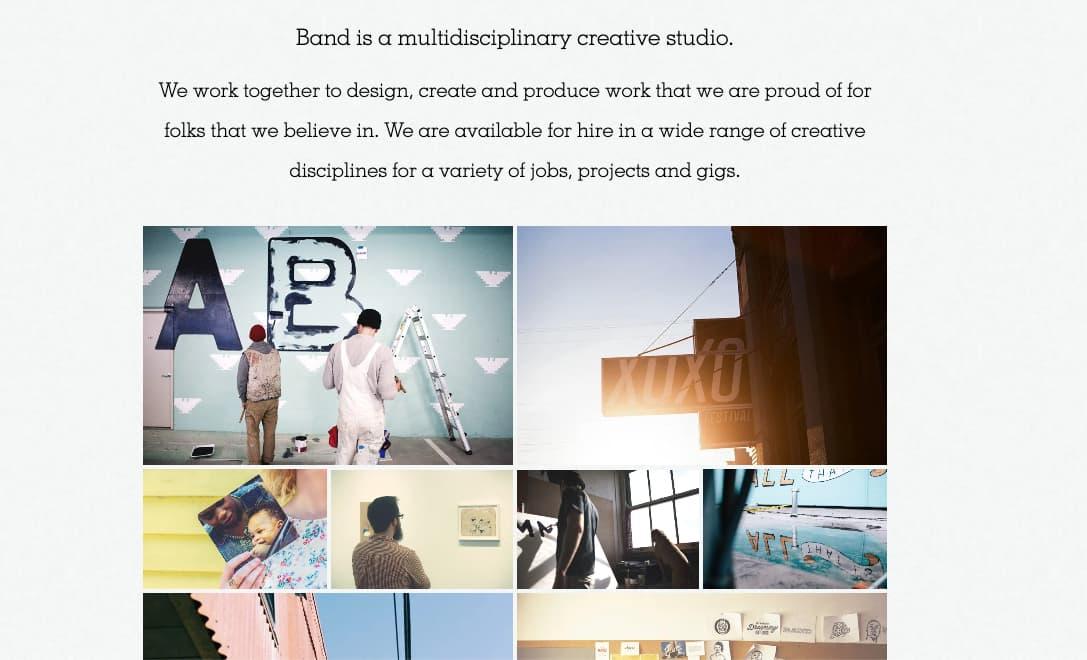 Ejemplo de la descripción de una empresa: Band