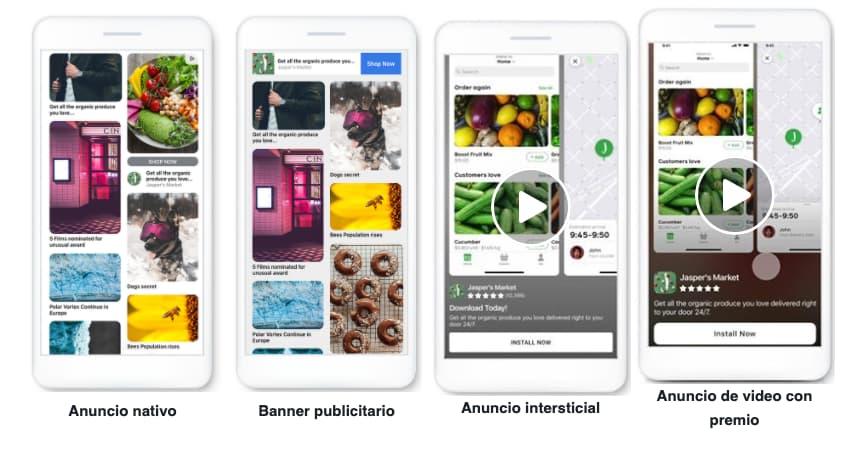Ejemplos de anuncios en Facebook: anuncio en Audience Network