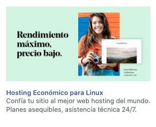 Ejemplo de publicidad de Lanix en la columna derecha de Facebook