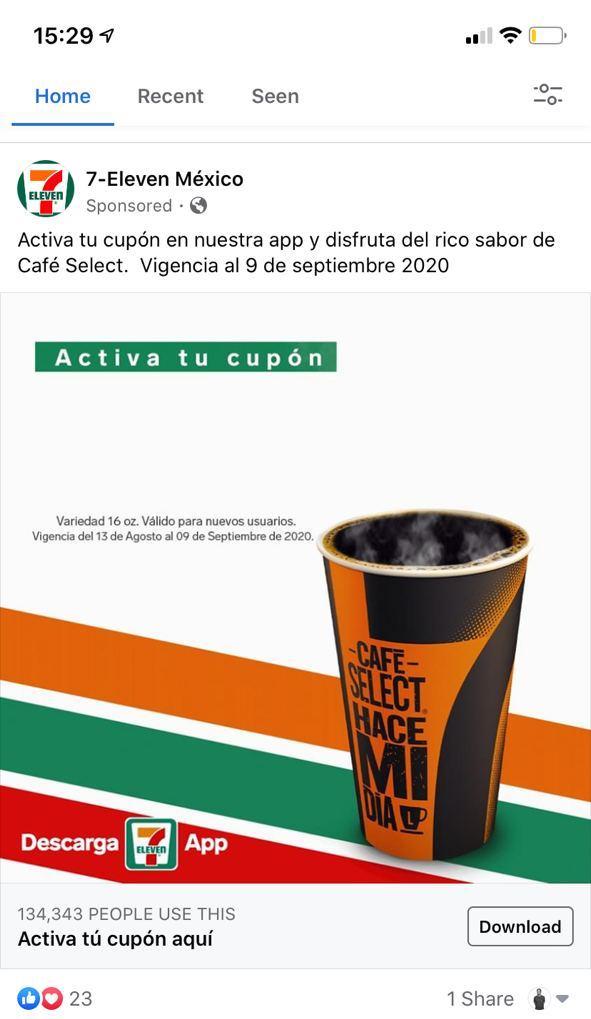 Anuncio de oferta de 7-Eleven México