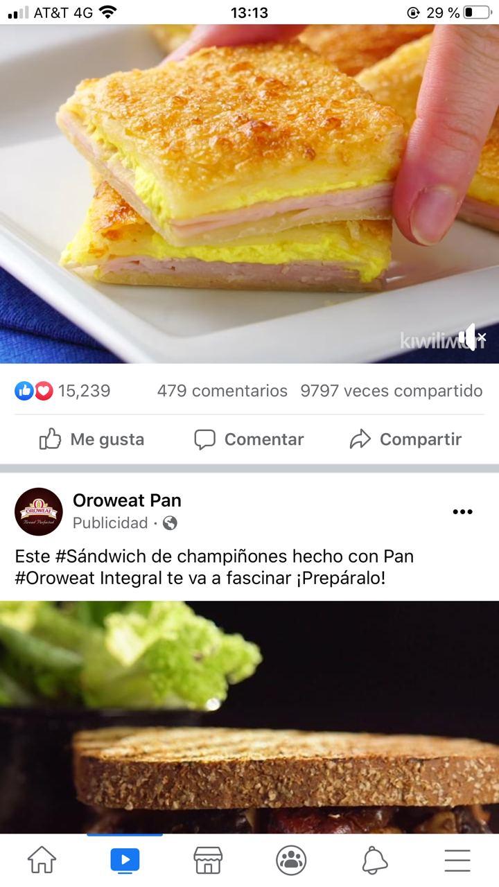 Ejemplo de anuncio de contenido relacionado de Oroweat Pan