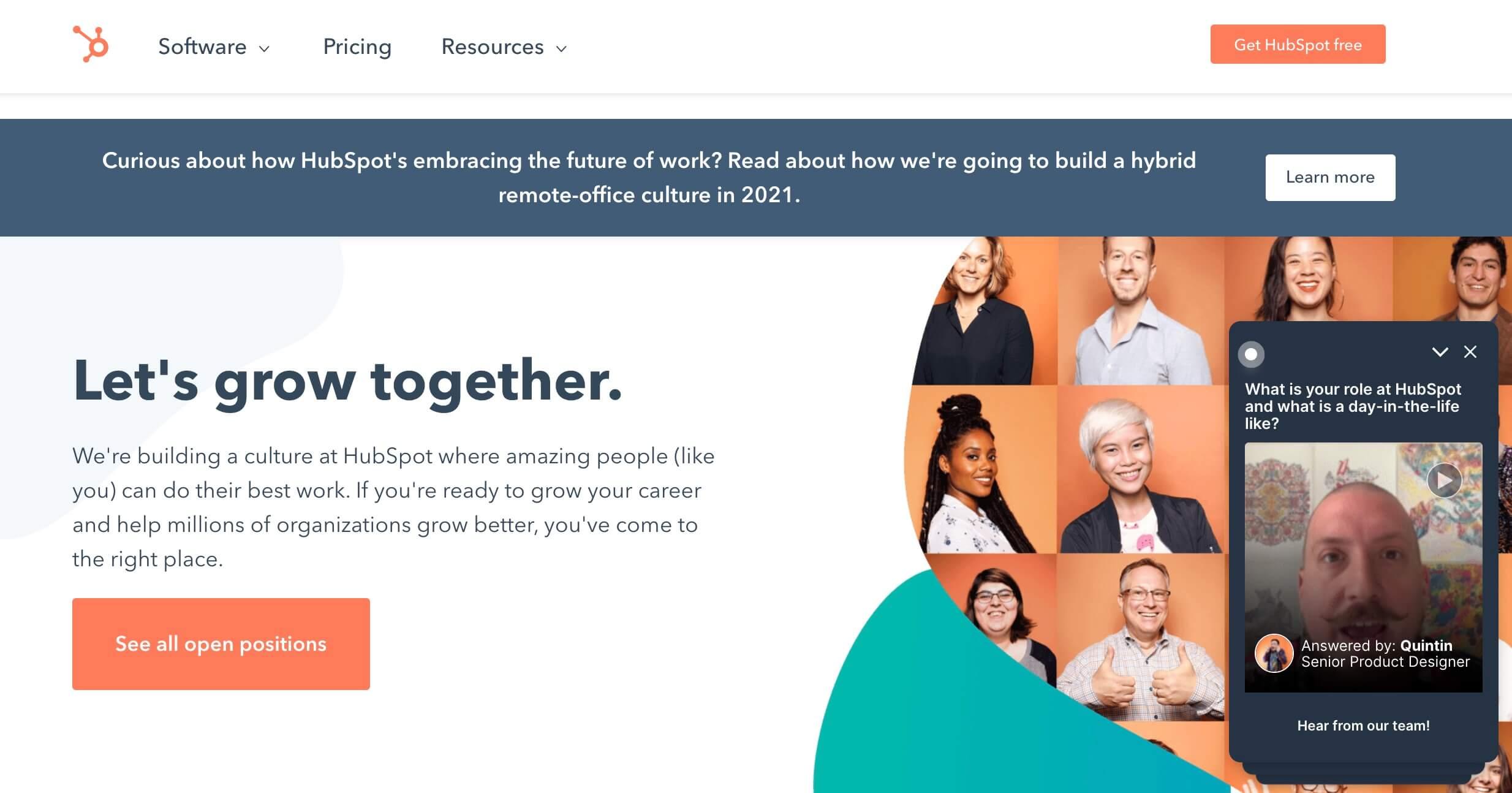 Employer branding: ejemplo de HubSpot