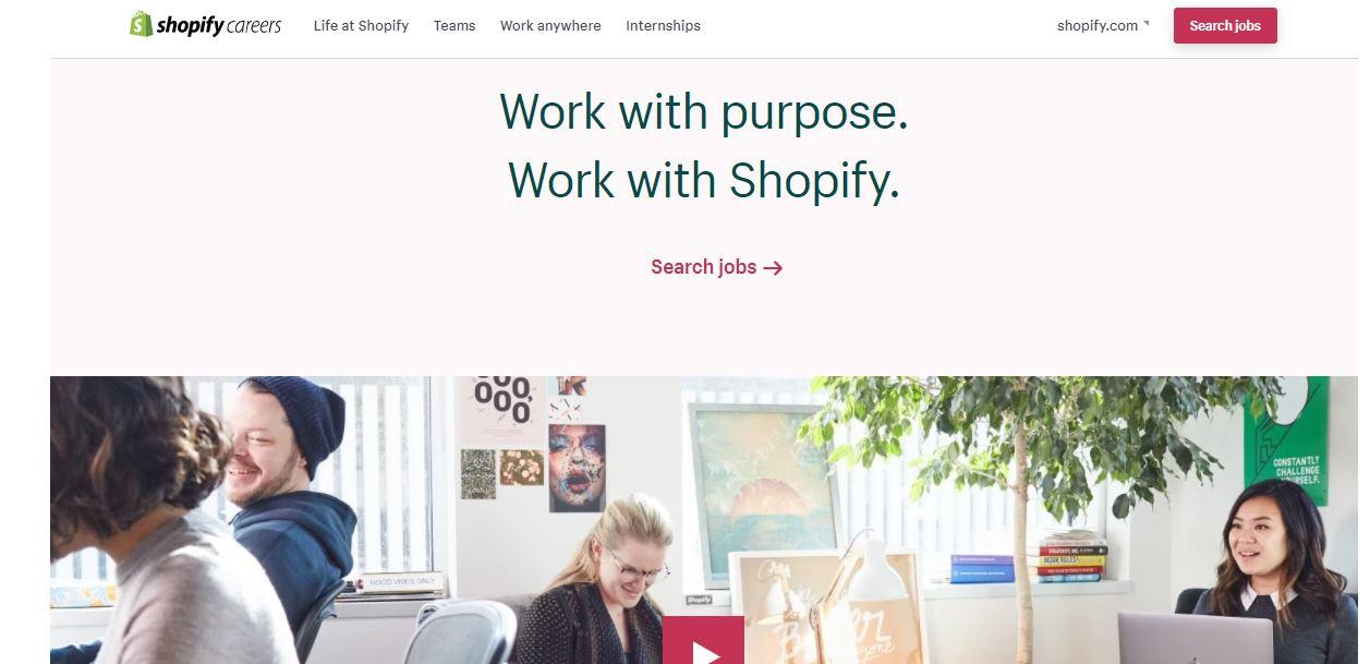 Employing branding: ejemplo de Shopify