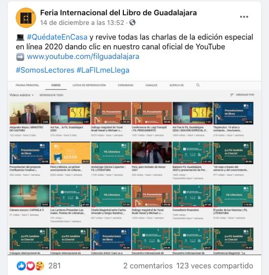 Ejemplo de engagement: Feria Internacional del Libro de Guadalajara