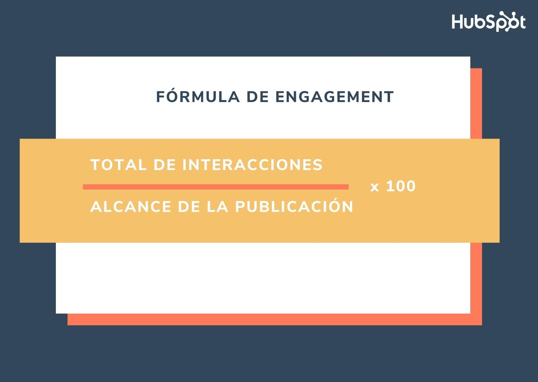 Fórmula general para calcular el engagement de una publicación
