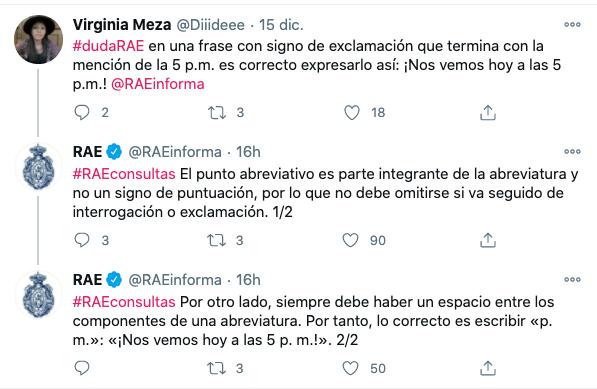 Ejemplo de marcas con buen engagement: Real Academia Española