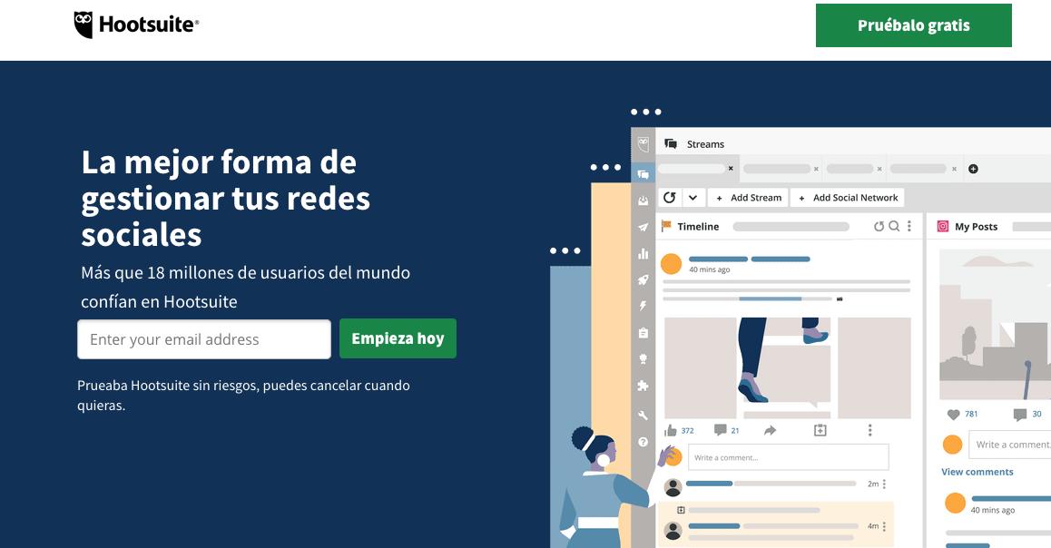 Software para mejorar y medir el engagement: Hootsuite