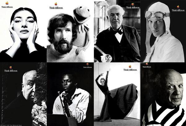 Eslogan creativo de Apple: think different