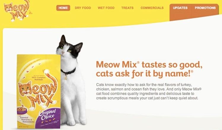 Eslogan famoso de Meow Mix