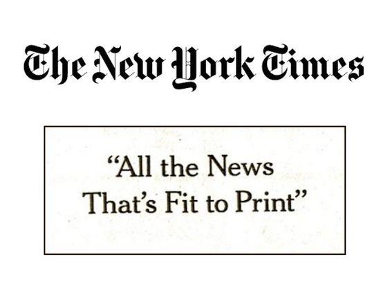 Eslogan creativo de New York Times