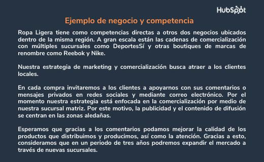 Ejemplo de estrategia empresarial con un enfoque competitivo