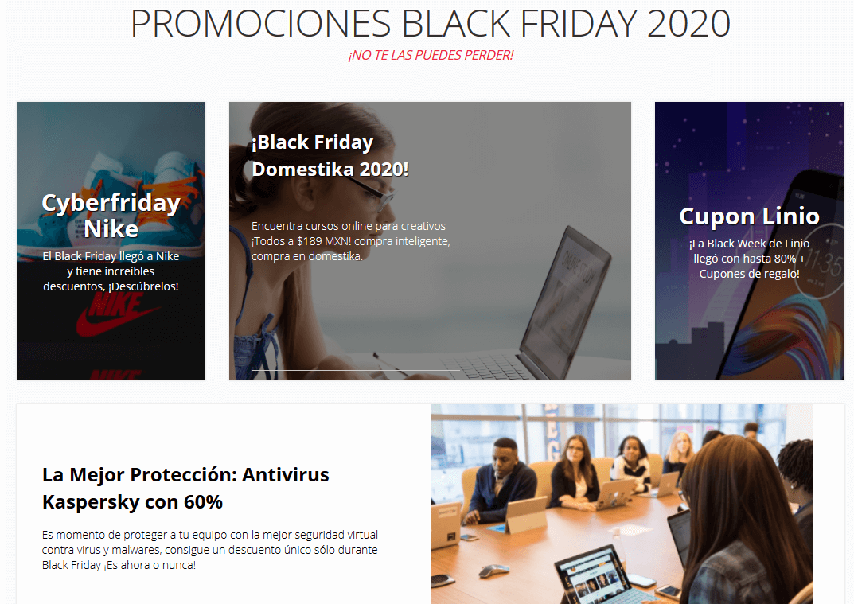 Ejemplo de estrategia hi-lo: Black Friday 2020
