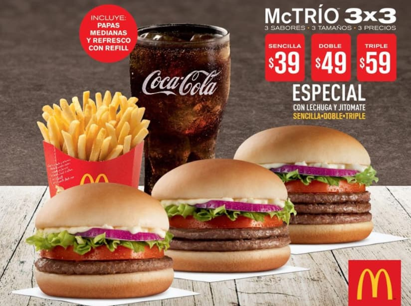 Ejemplo de estrategia de precios por paquete: McDonald's