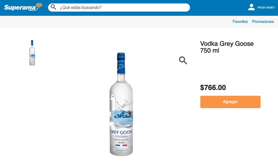 Ejemplo de estrategia de discriminación de precios: precio del supermercado Superama