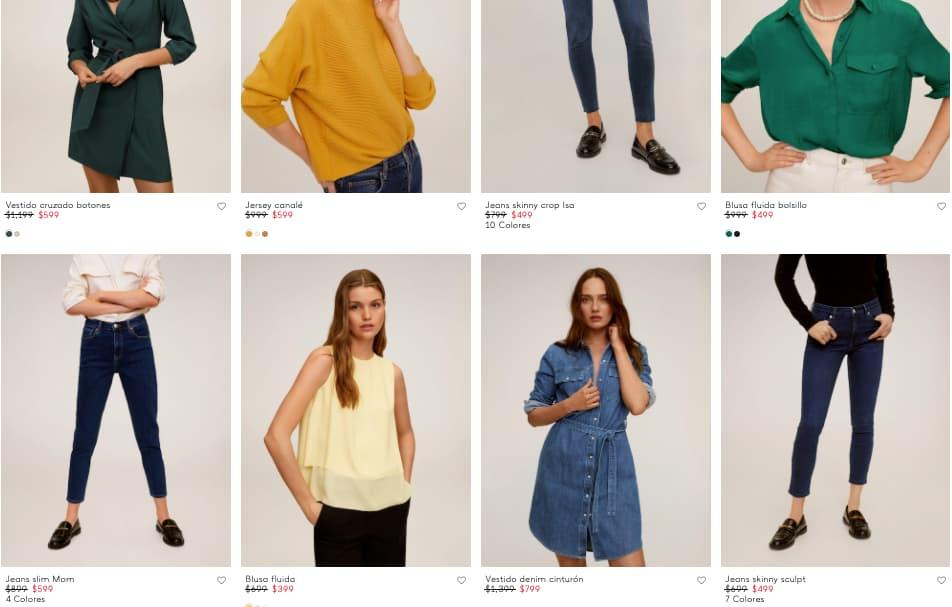 Ejemplo de estrategia de precios psicológicos de una tienda de ropa