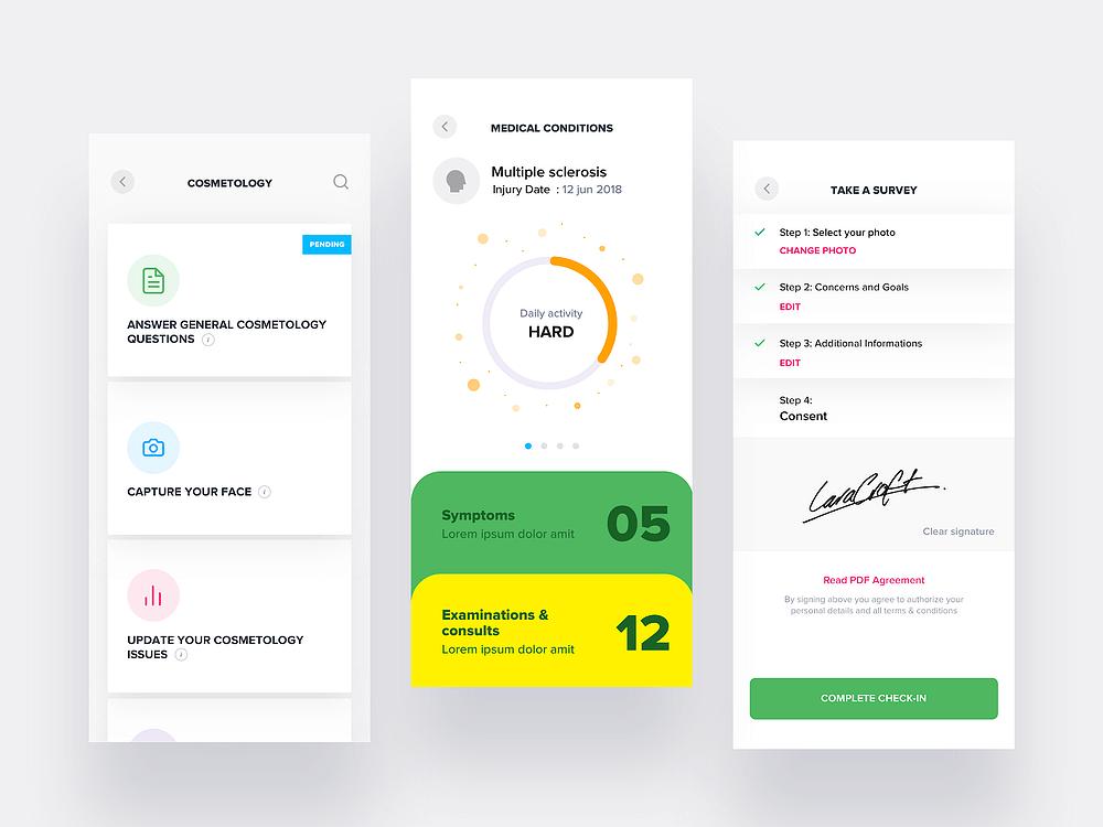 Ideas de diseño UX: diseño de app de servicios médicos por Divan Raj
