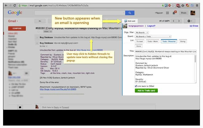 Gmail-to-Trello: extensión para Gmail