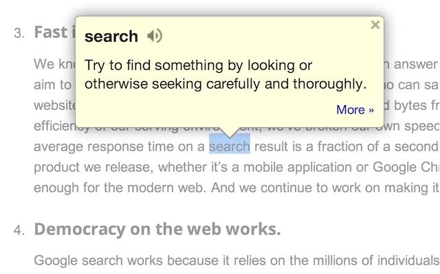 Google Dictionary: extensión para Gmail
