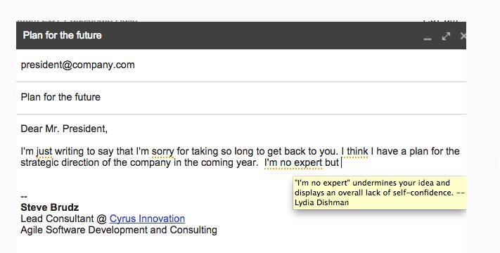 Just Not Sorry: extensión gratuita para Gmail