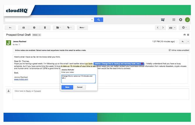 Gmail Notes: extensión para Gmail