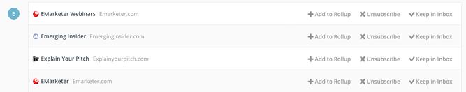 Unroll.me: extensión para Gmail