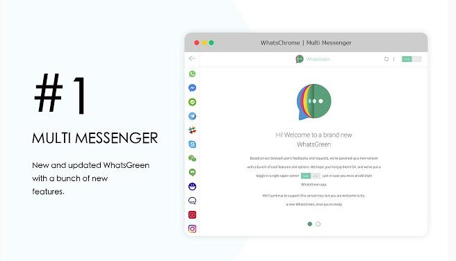 WhatsGreen Multi Messenger: extensión para Chrome y Gmail
