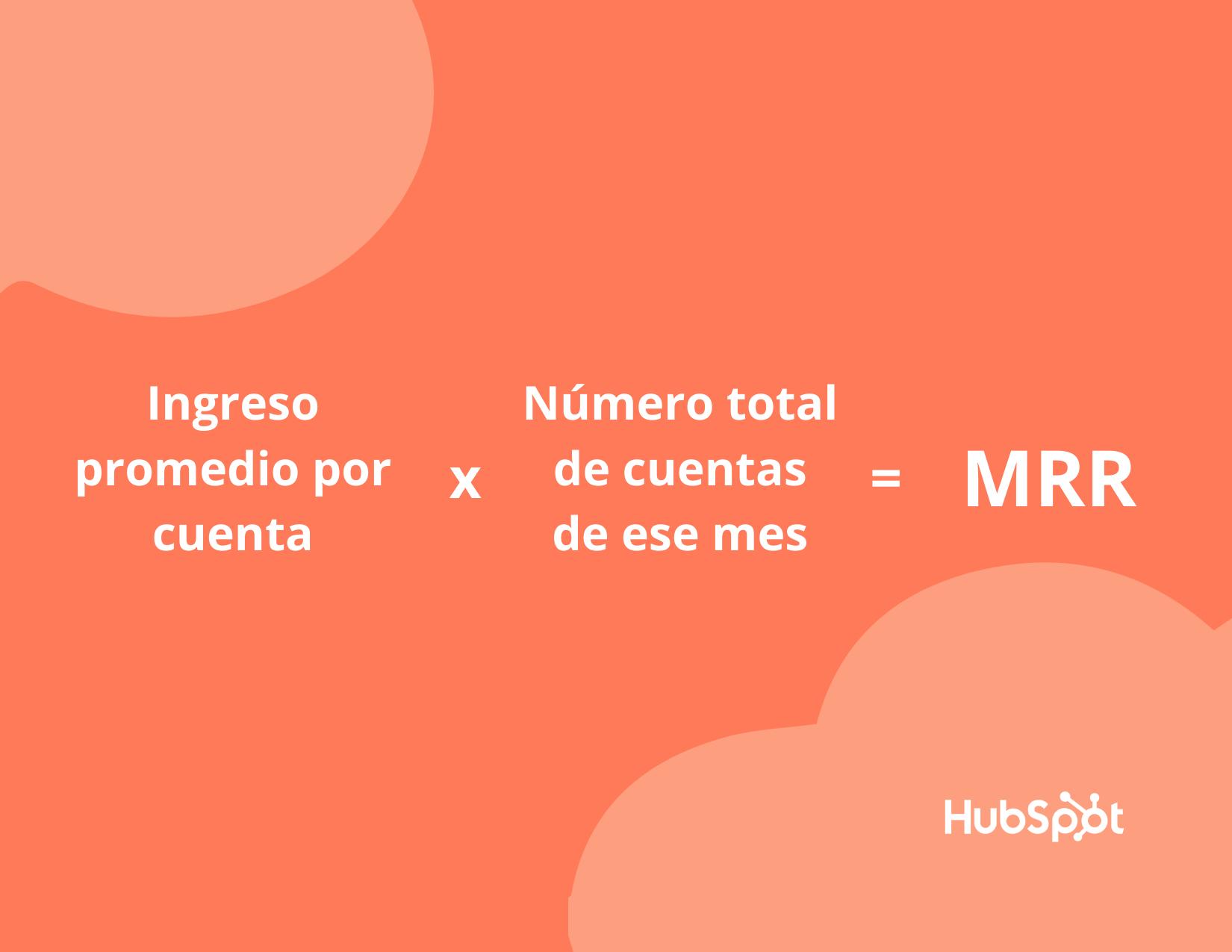 Fórmula para calcular los ingresos recurrentes o MRR