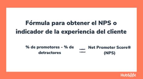 Fórmula para obtener el NPS