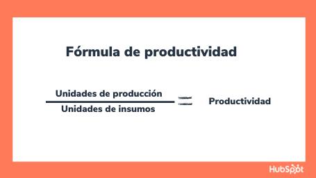 Fórmula de productividad