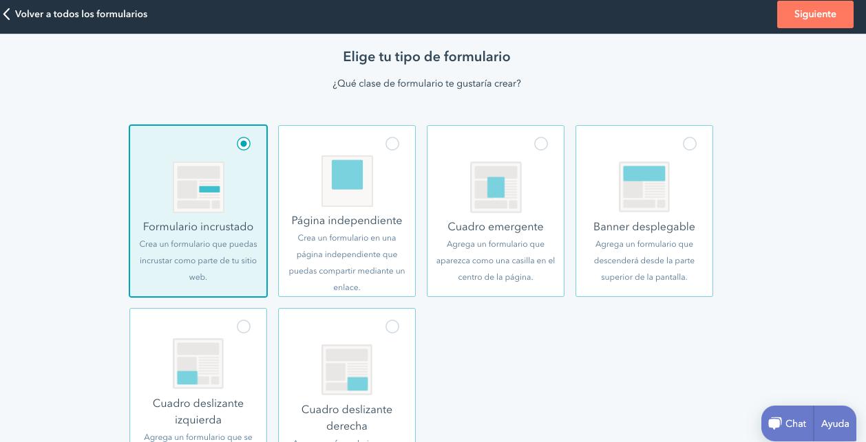 Página para personalizar formulario en la herramienta de HubSpot