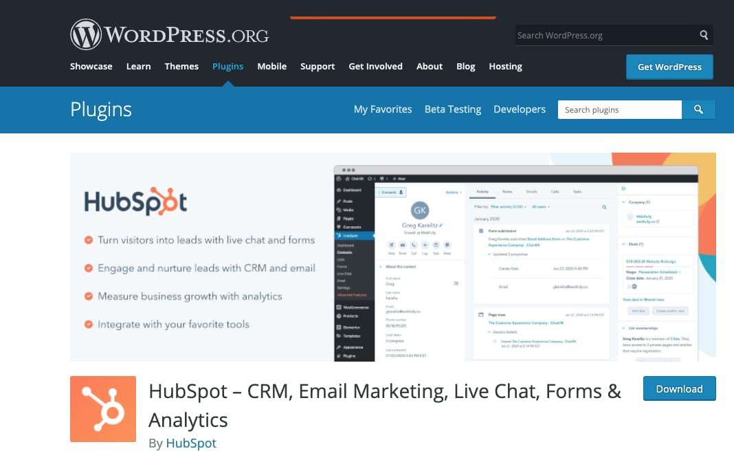 Plantillas de formularios de HubSpot para WordPress
