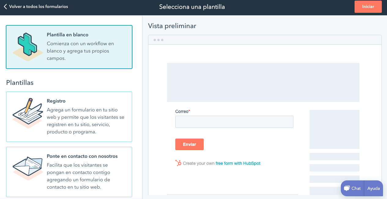 Página para personalizar formulario incrustado en la herramienta de HubSpot