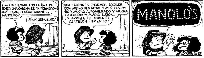 Meta en la gestión empresarial, según Mafalda
