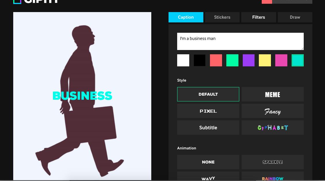 Cómo personalizar un GIF en Giphy