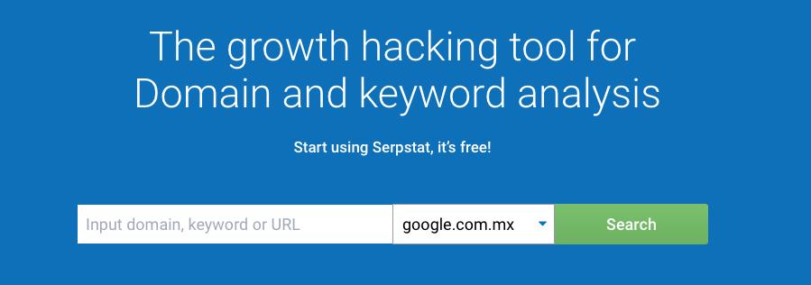 Herramientas gratuitas para buscar keywords: Serpstat