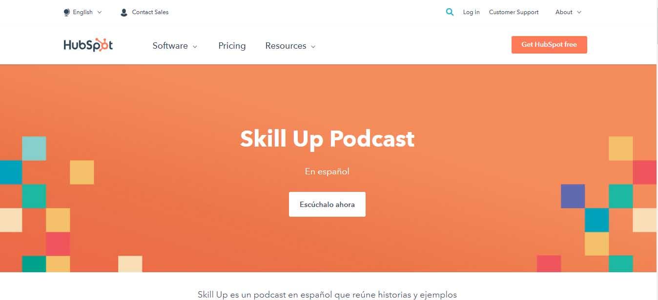 Ejemplo de marketing B2B de HubSpot: podcast Skill Up