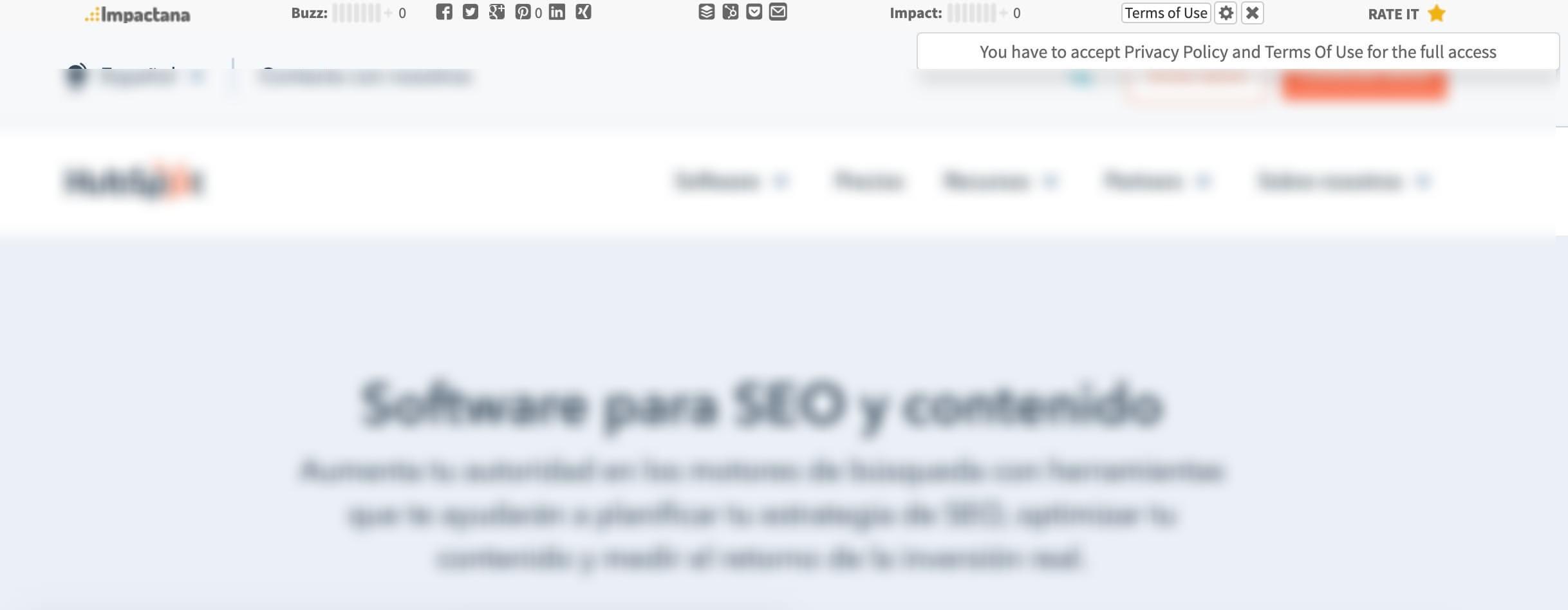 Extensión Impactana para Google Chrome