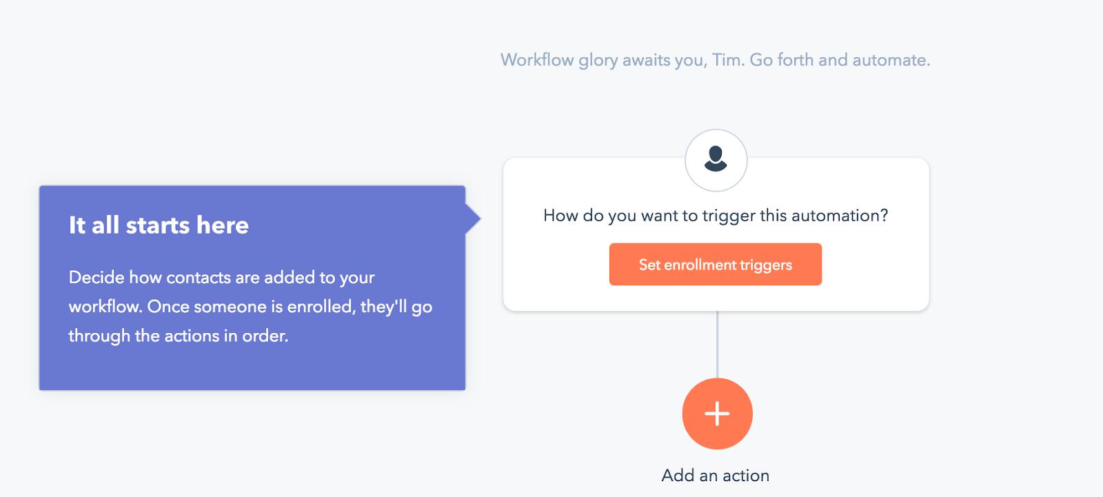 Ejemplo de incorporación de clientes en el software de HubSpot