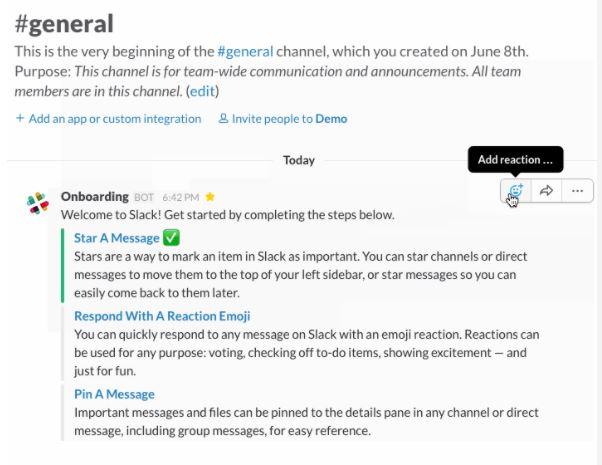 Ejemplo de incorporación de clientes de Slack