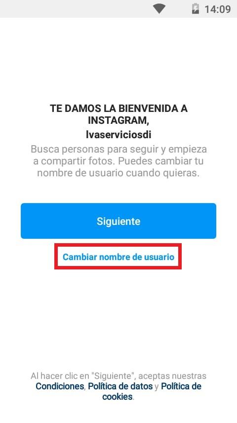 Cómo configurar una cuenta de empresa en Instagram desde cero: cambiar nombre de usuario