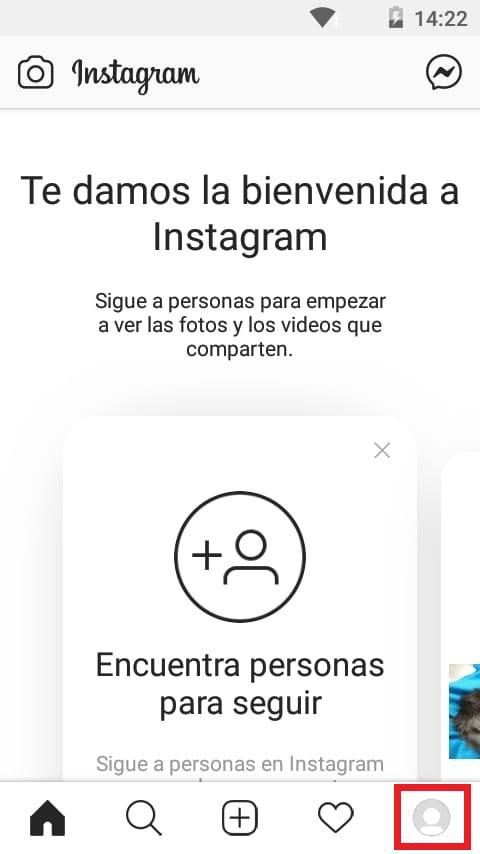 Instagram para empresas: ingresar al perfil