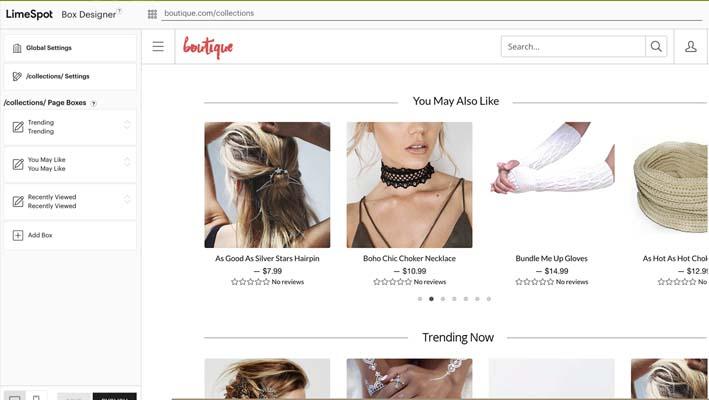 App LimeSpot Personalizer para tiendas en Shopify