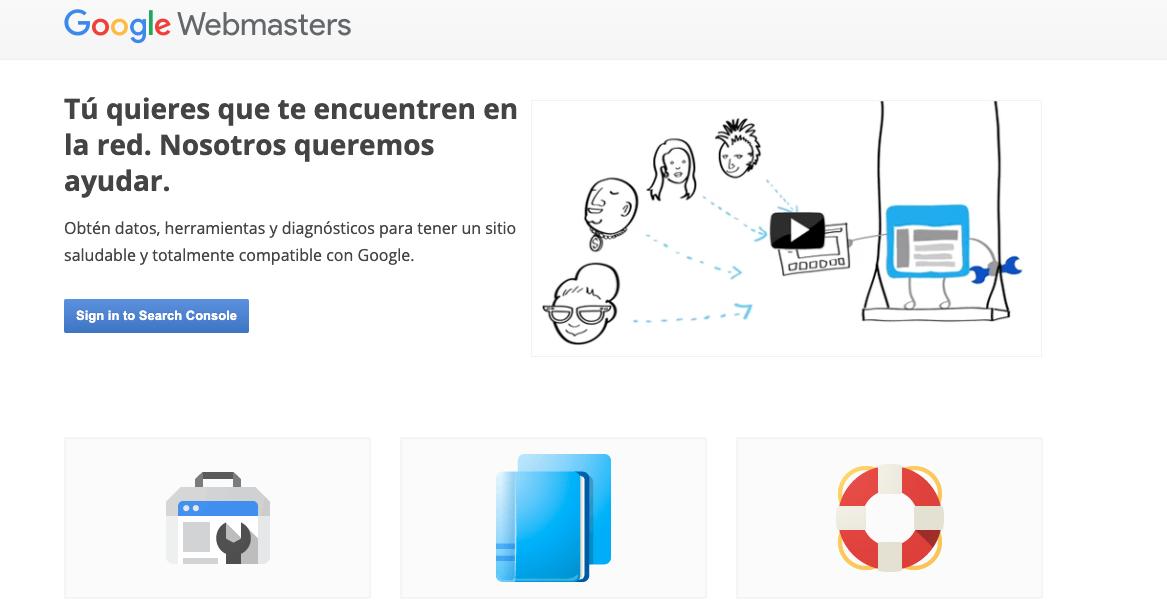 Herramienta de link building: Google Webmasters Tools