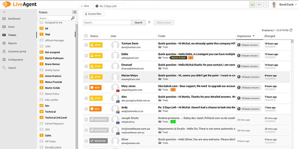LiveAgent, software de mesa de ayuda